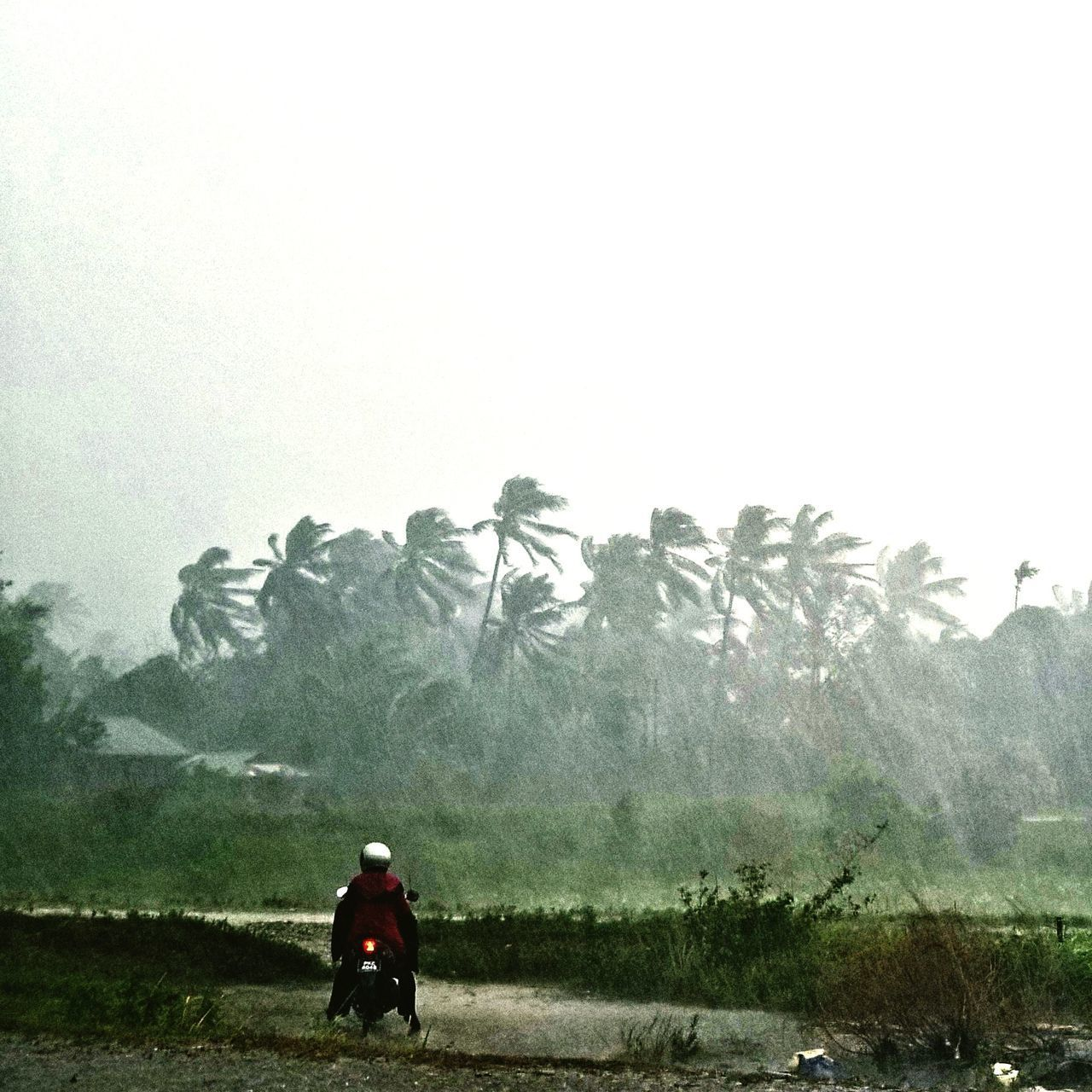 Weather Real People Outdoors Women Raining Day Raining Motorbike