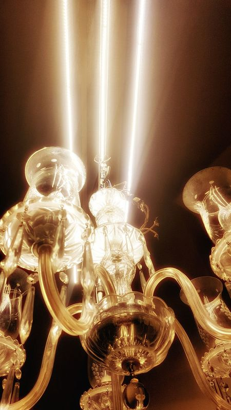 Illuminated Interesting Perspectives Artphotography Dreamlike Technology Chandelier - Detail Chandelier Crystals LED Lighting Antique Light Retro Light Bulb Glowing Close-up No People Indoors  Monochromatic Noiretblancphotographie Surrealistic Indoors