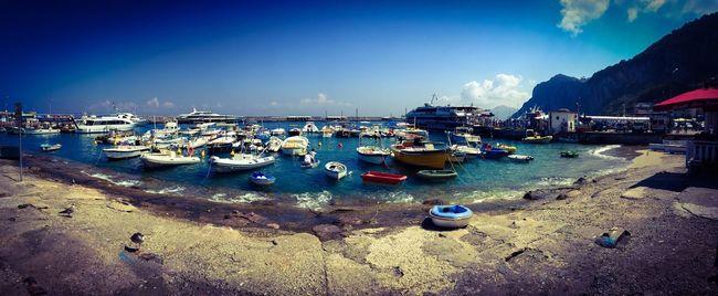 Capri, Italy... Capri, Italy Shoreside Boats Sea Landscape Travel Shiplife