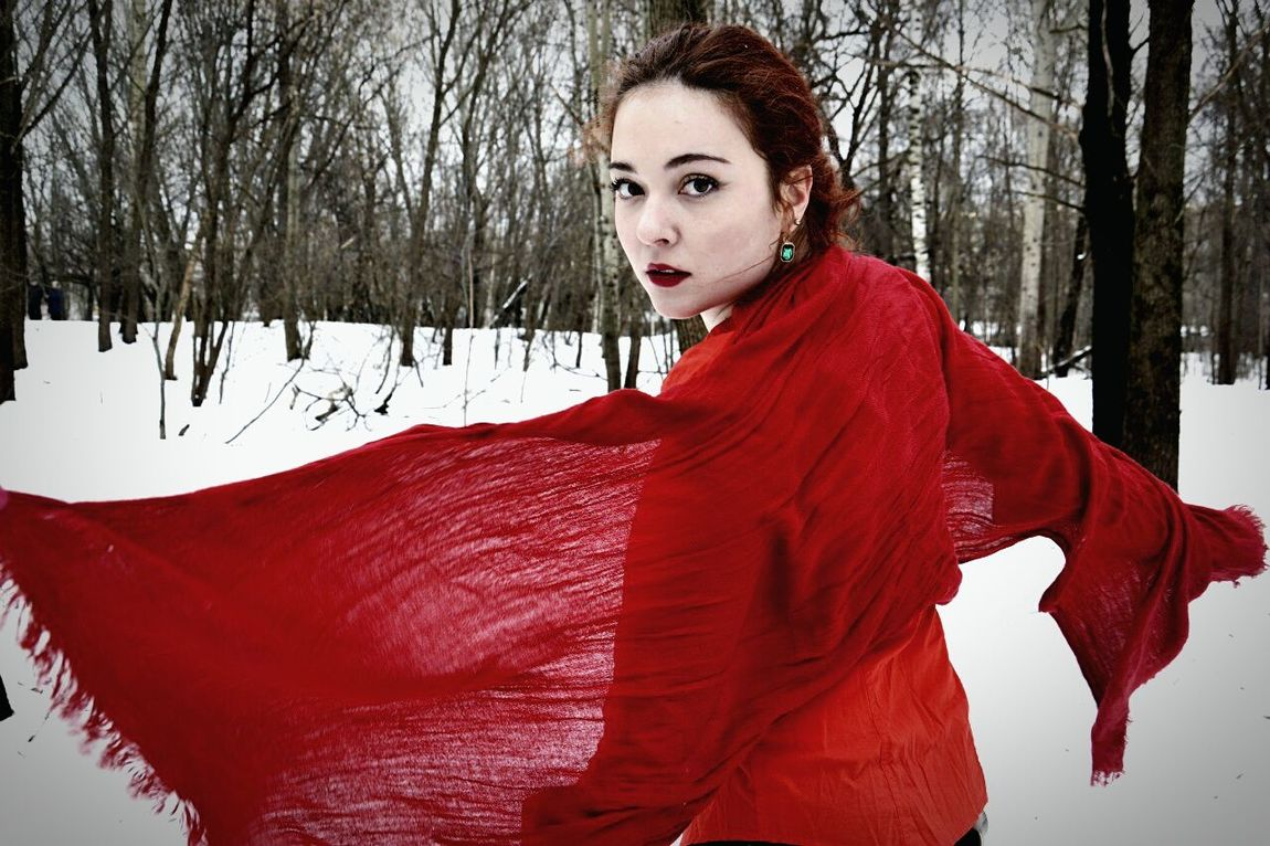 I'll be your lady in red :-D Today Moscow Redlips VSCO Msco Park