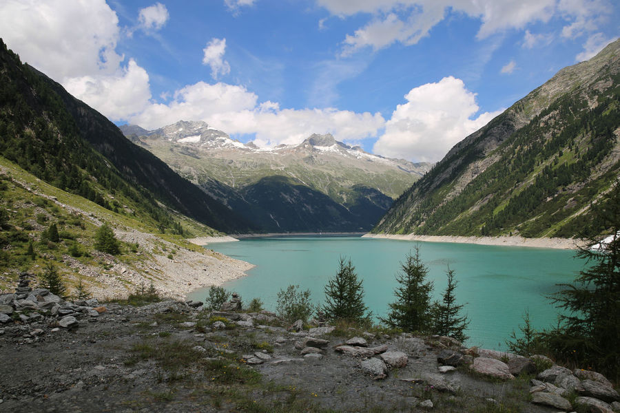 Adventure Beauty In Nature Blue Cloud Cloud - Sky Clound Day Lake Landscape Mountain Mountain Range Mountain View Nature No People Outdoors Scenics Sky Tranquil Scene Tranquility Tree Water Waterfront Zillertal Zinnia