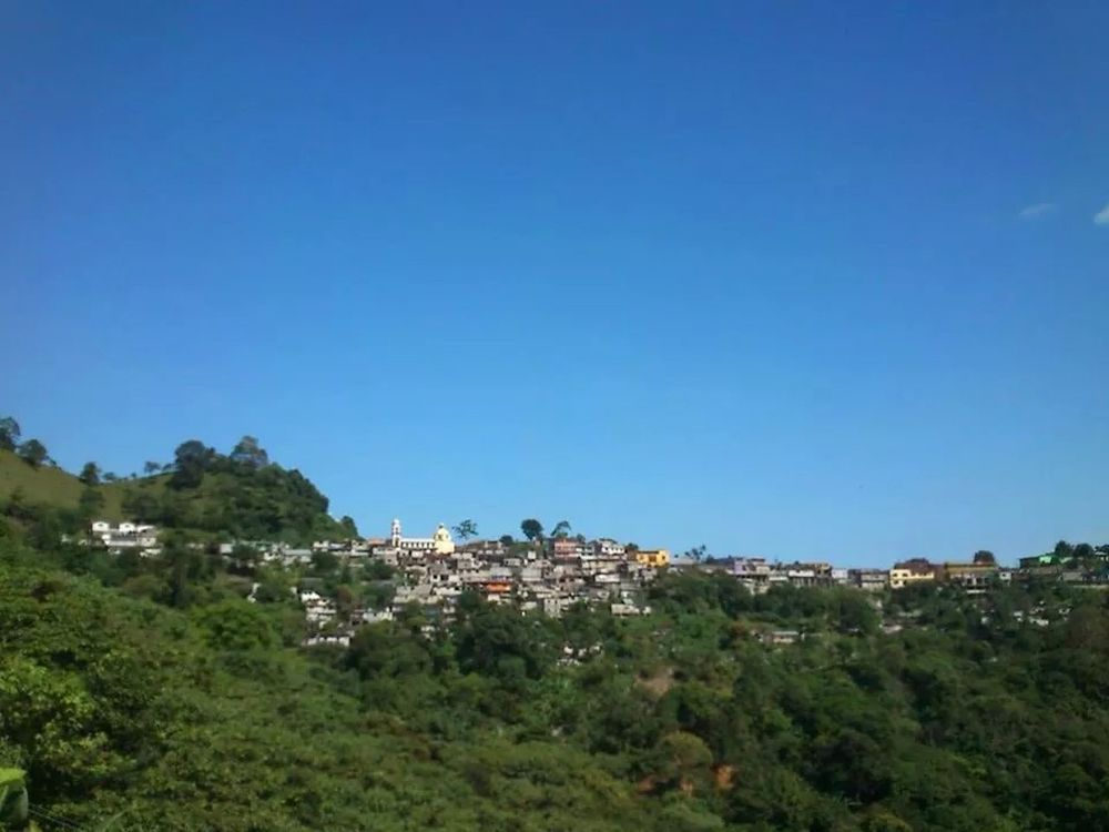 Mexico Sierra Norte Blue Sky Beautiful