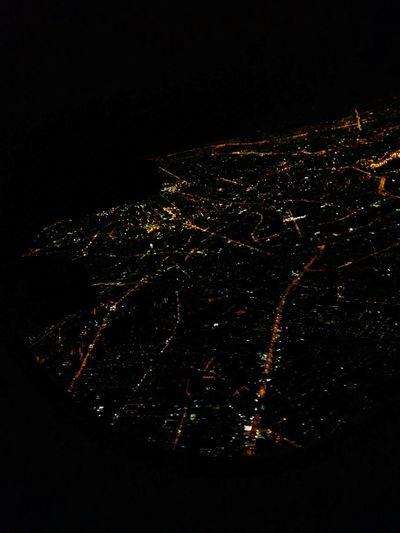 Bangkok suburbs at night. Bangkok Thailand. Nightlights Thaiairways Thailand
