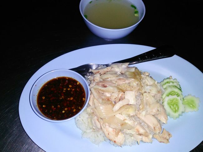 Eat at night Ready-to-eat Food Thailand Si Racha Cuisine Food Photography Eat Soup Table Food And Drink Chicken Rice Chickens Plate Dish No People Menu