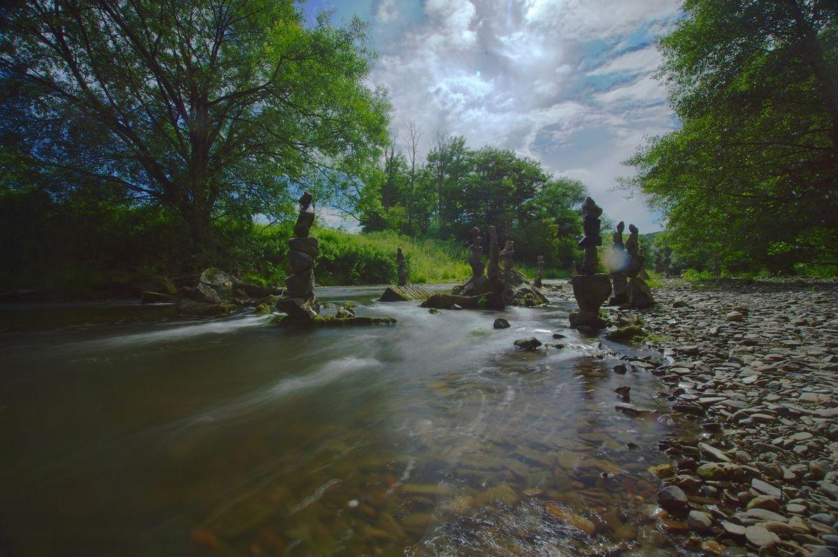 Landscape Nature Water Ahr Langzeitbelichtung HDR