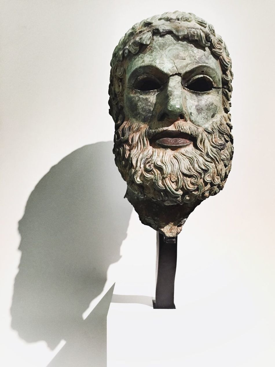 Magna Grecia Museum Check This Out Artistic Art, Drawing, Creativity Museum Man HEAD ReggioCalabria Calabria Magna Grecia Greek Ancient Culture Ancient Civilization Ancient Sculptures Sculpture ArtWork Art Statues Statue History Bronze Statue Bronze Taking Photos In Front Of Sicily