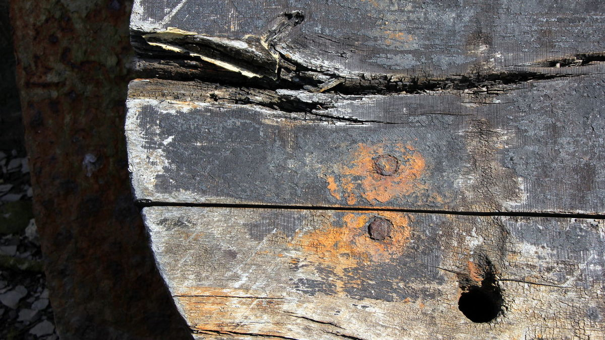 Boat Close-up Cracked Day Decay Metal No People Outdoors Rudder Textured  Wood - Material