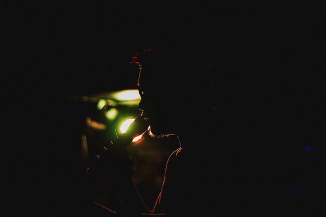 Illuminated Dark Darkness Silhouette Person EyeEm Best Shots Live Music Portrait Outdoors Human Face EyeEm Gallery