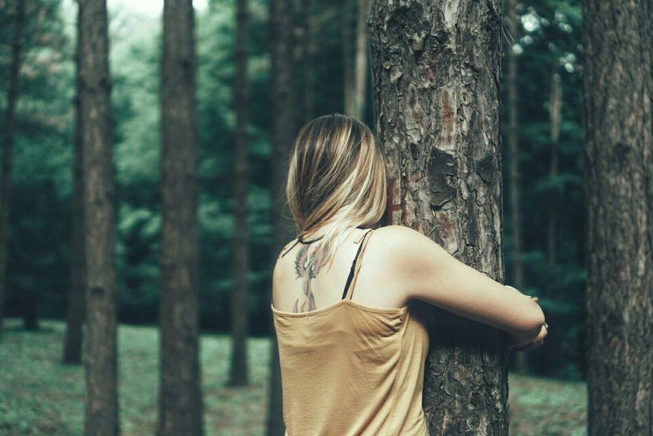 Beautiful stock photos of baum, tree, forest, three quarter length, rear view