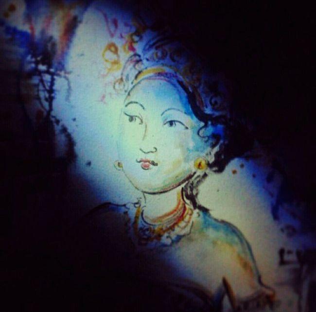 Blue Close-up Art Brush Canvas Painting Lineart Horizontal No People Gallery EyeEm Best Shots Overnight Success Vignette EyeEmBestPics EyeEm Gallery Spotlight Bali Balinesedancer New Talent
