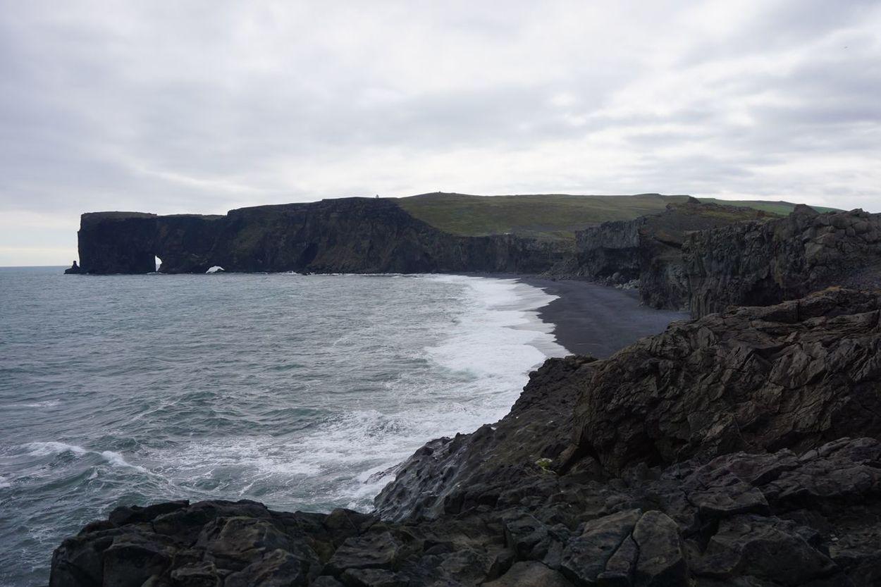 Arch Beach Black Beach Coastal Feature Coastline Day Iceland Landscape Nature No People Outdoors Rock - Object Scenics Sea Vik