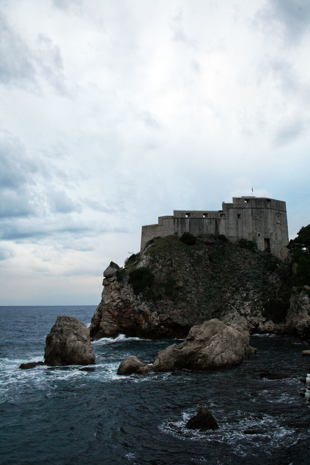 Dubrovnik,ancient fortress Lovrijenac,Croatia,Europe,1 Adriatic Coast Ancient Architecture Architecture Building Exterior Built Structure Cloud - Sky Day Dramatic Sky Dubrovnik, Croatia Fortress History Lovrijenac Nature No People Outdoors Rock - Object Sea Sky Storm Clouds Water