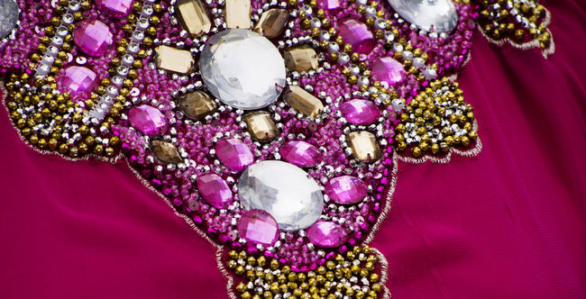 detail of turkish traditional dress Christmas Ornament Close-up Culture Decor Decoration Dress Flower Full Frame Indoors  Multi Colored No People Ornament Pink Purple Turkey
