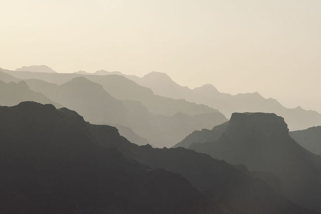 Arid Climate Copy Space Fog Foggy Geology Gran Canaria Nature's Diversities Colour Palette Inagua Island Landscape Light Majestic Mountain The Great Outdoors With Adobe Non-urban Scene Outdoors Physical Geography Remote Ridges Roque Nublo SPAIN Valley Volcanos The Great Outdoors - 2016 EyeEm Awards