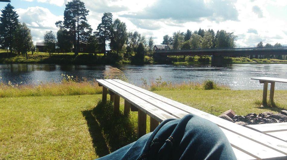 Relaxing Taking Photos Biutifull Day Enjoying Life Hello World River In Sveden Its Soooo Biutiful 💚💚