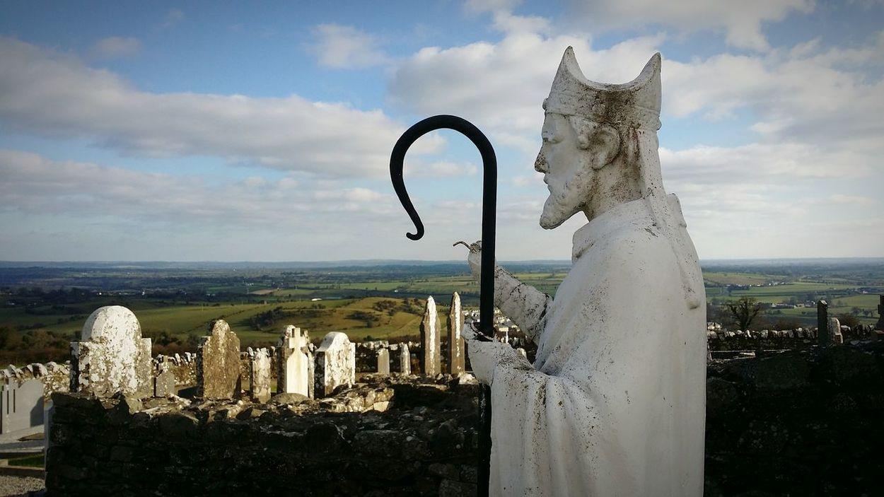 St. Patrick  Slane, Ireland Ireland Landscape view Sky Clouds And Sky Meath Saint travel tourism catholic pilgrimage Easter