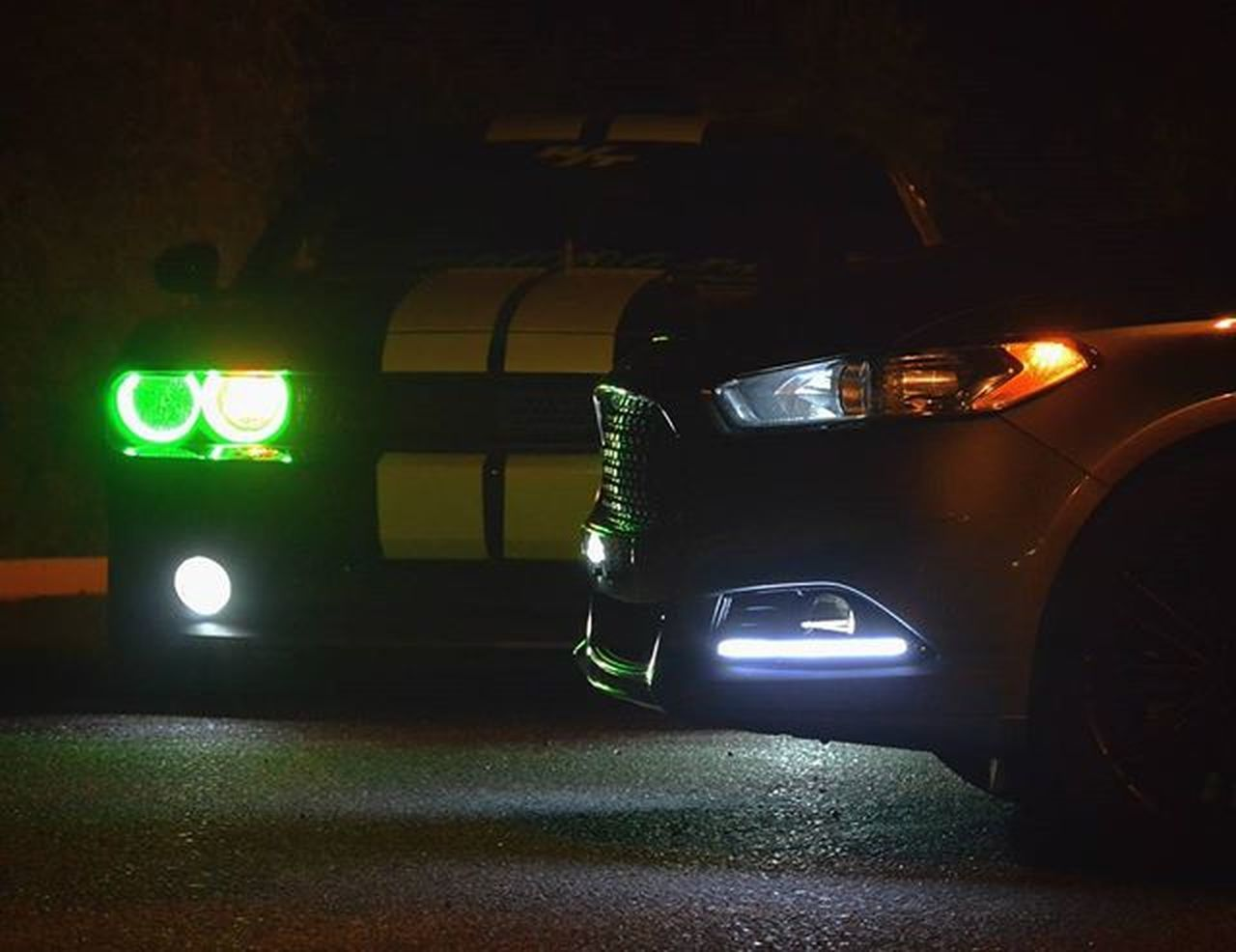 car, night, illuminated, headlight, transportation, no people, land vehicle, indoors