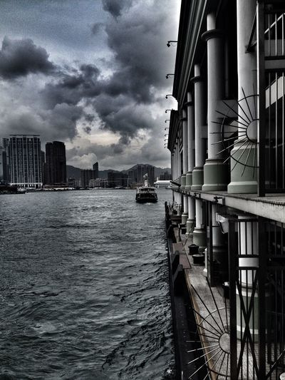 leaving City Clouds HongKong Outdoors Sky The Star Ferry Water Waterfront