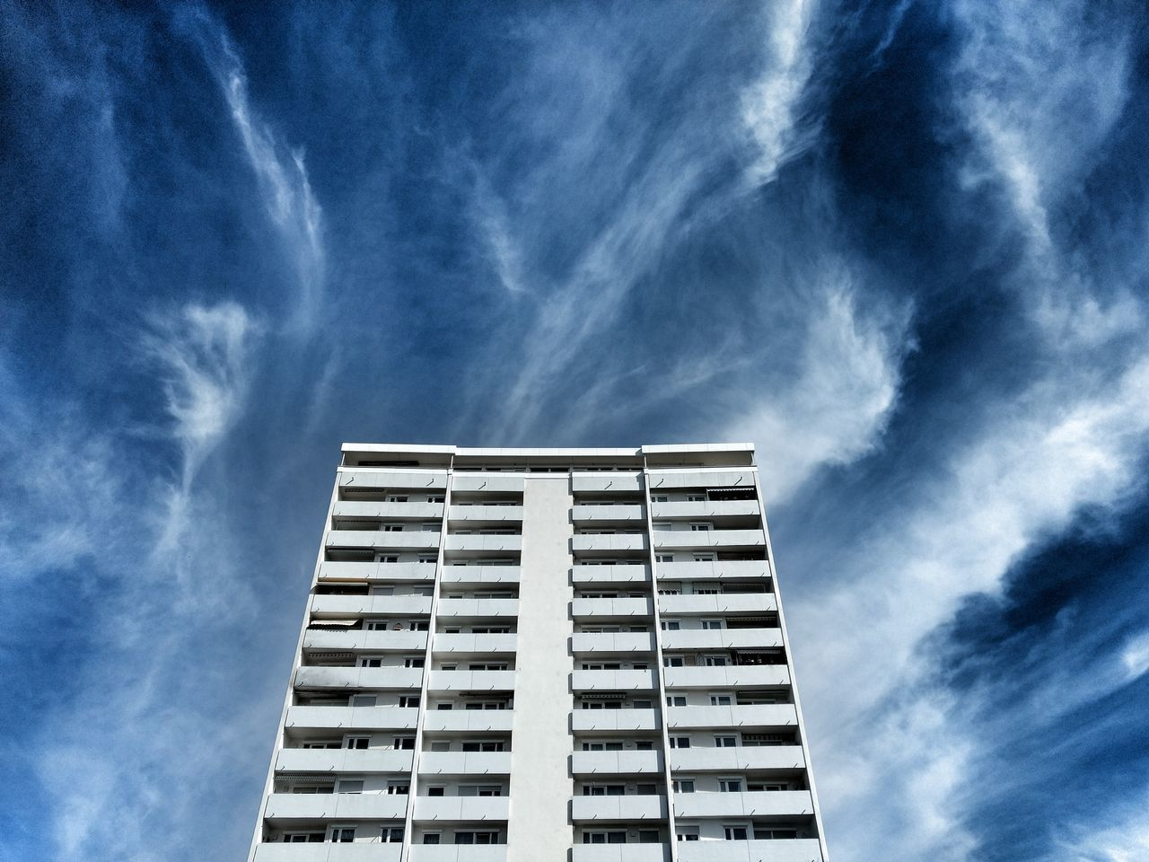 Architecture Built Structure Cloud - Sky Low Angle View Modern Sky Sky And Clouds Weather