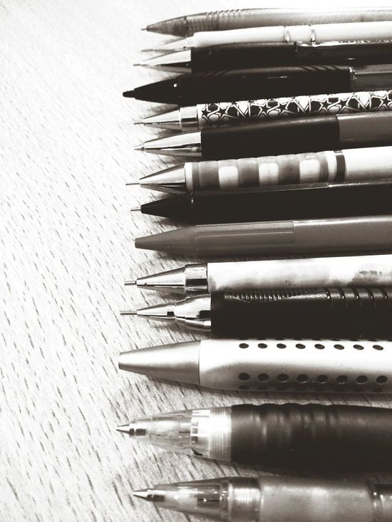 Mechanical Pencil Hoarder Variation In A Row Order Choice Large Group Of Objects Still Life Arrangement Indoors  Close-up No People Neat Variety Day Black & White Lieblingsteil