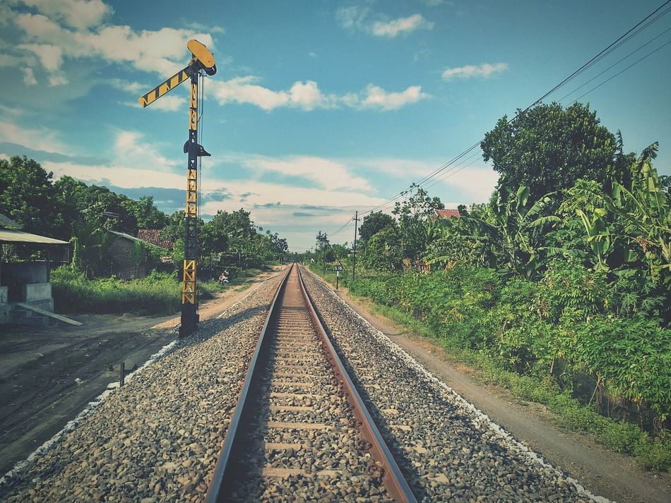 The Railway, when I saw it. Always remember to back home Cloud - Sky The Way Forward Sky Day Railroad Track Rail Transportation Manufacture Still Friend No People Traveling Home For The Holidays
