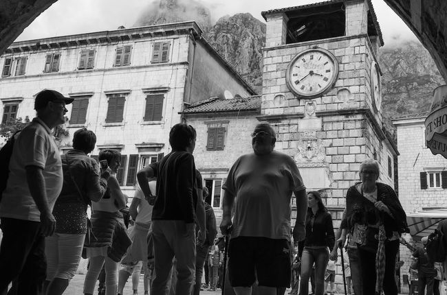 B&w Street Photography running out of time. Time Capture The Moment Pixelperfectnyc David Gutierrez Traveling Travel Montenegro Mybestphoto2015 Beautiful Black And White EyeEm Best Shots