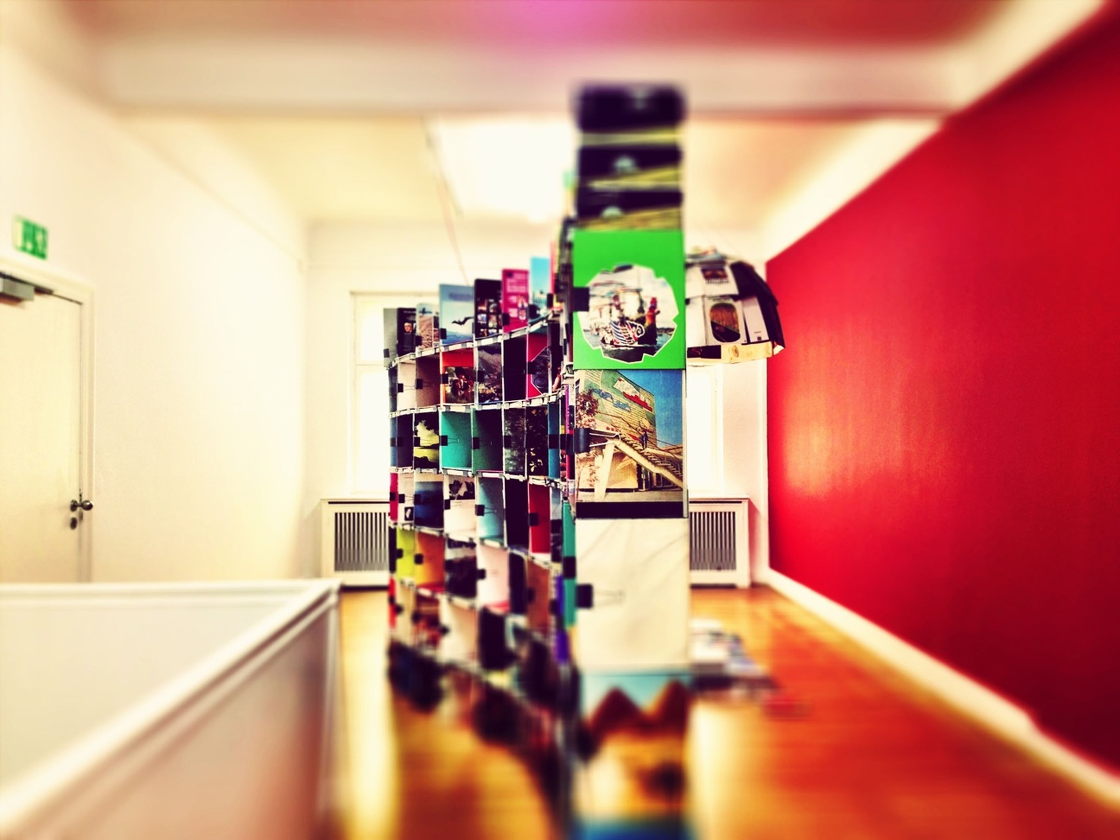 indoors, wall - building feature, technology, selective focus, home interior, no people, illuminated, wall, door, ceiling, flooring, hanging, connection, absence, communication, built structure, convenience, lighting equipment, arts culture and entertainment, architecture