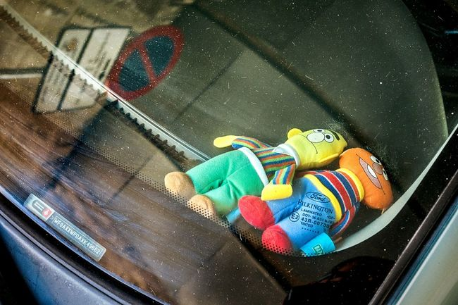 Bert And Ernie Best Friends Urban Scenes Streetphotography Street Photography Open Edit Color Streetphoto_color Reflection Car Window Street Sign