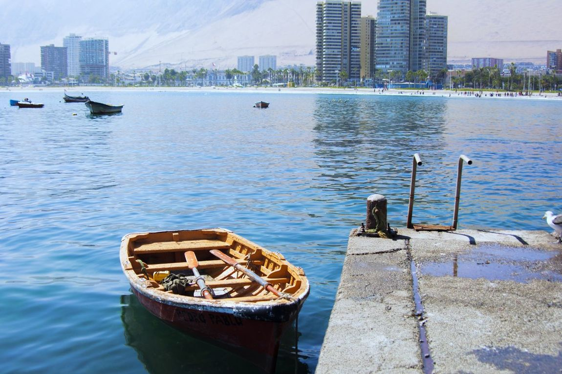 I need to jump in Boat Bote Beach Playa Cavancha Iquique Chile Tarapaca Oo
