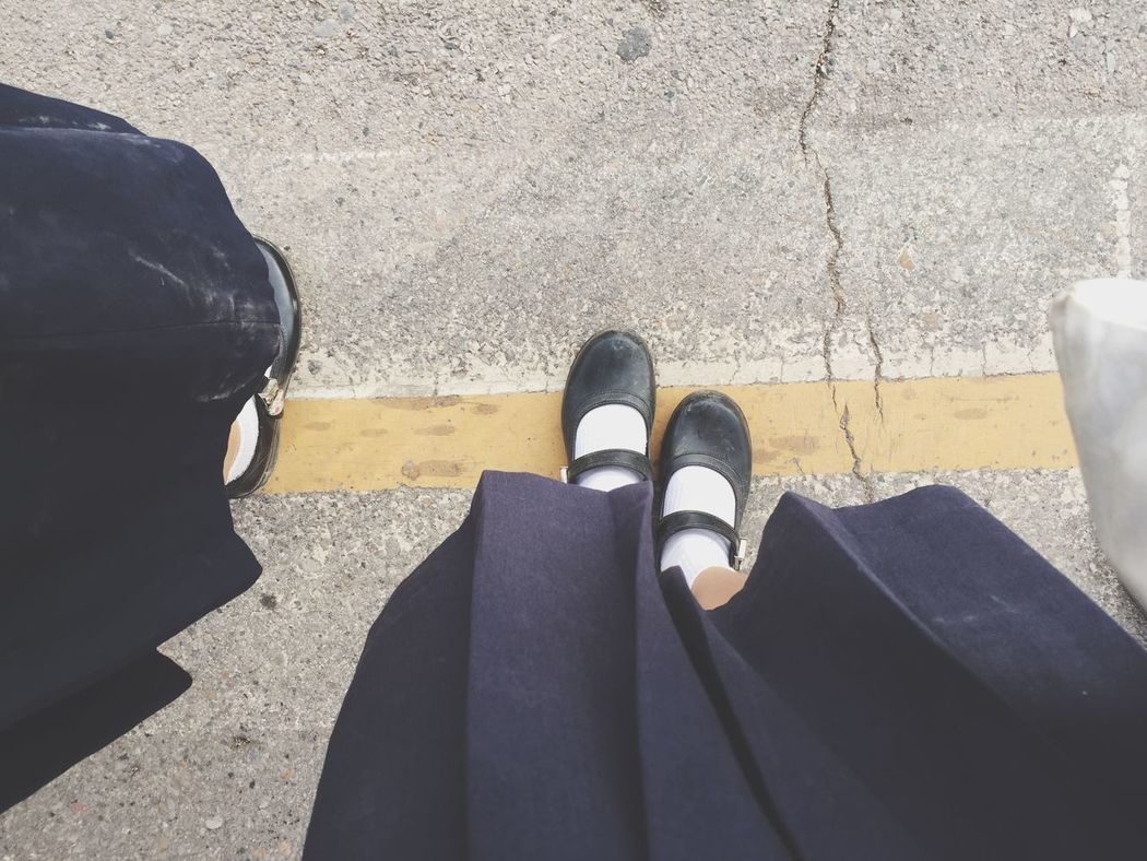 Learn to waiting something better 💭💭 Waithing Crossroad Babigibipic LINE Yellow Line Foot