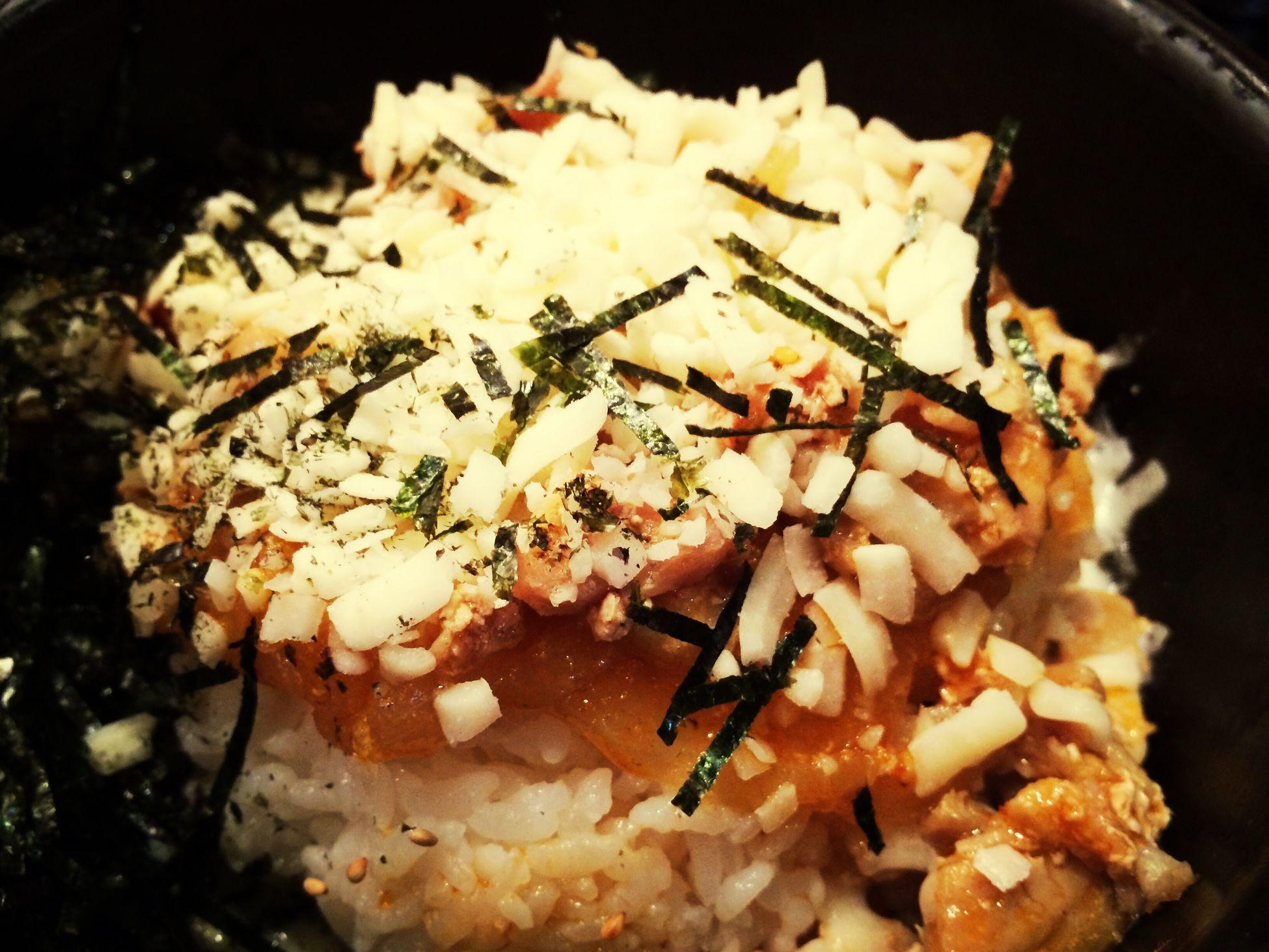 The Korean lunch... 暑いけど石焼ビビンバランチ。ネギ抜いたのにタマネギがいっぱいだった orz