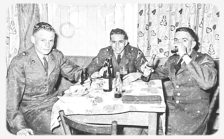 the handsome devil in the middle is my grandfather while he was in the army way back when...yea thats right my papa was a hottie back in the day ;) Veteran Past Life Back In The Day Handsome Devil
