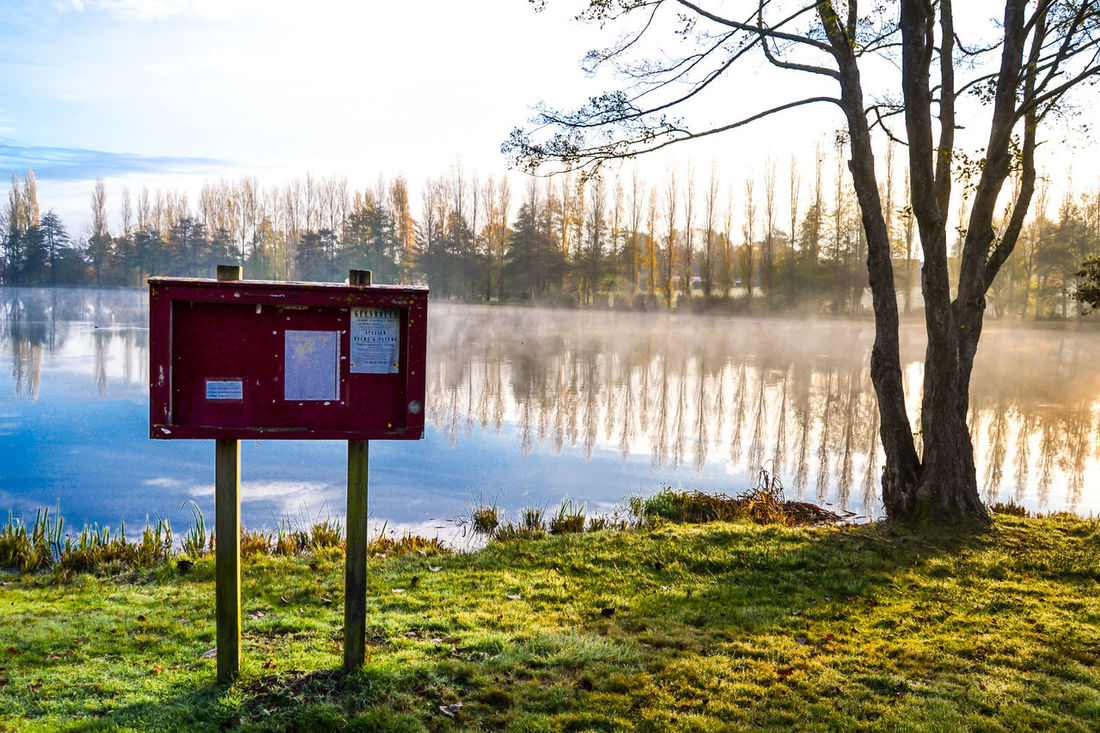 Autumne Beauty In Nature Brume Matinale Lac Matin Nature Outdoors Panneau France 🇫🇷 Tranquility Eye Em Photography Landscape EyeEm Nature Lover Lake Soleil