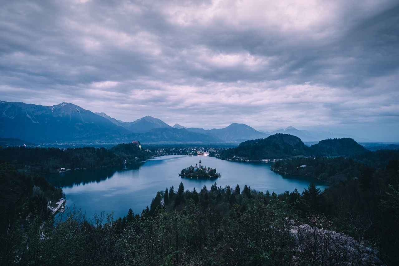 Stormy Clouds over Lake Bled Beauty In Nature Bled Cloud - Sky Landscape Mountain Mountain Range Nature Outdoors Scenics Sky Slovenia Tree Water The Great Outdoors - 2017 EyeEm Awards