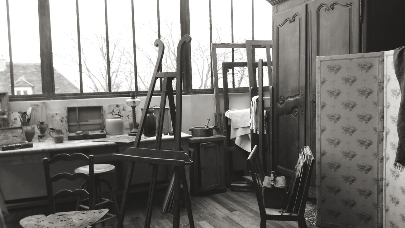 Museum Blackandwhite Photography Artist Calm Painting Interior Views