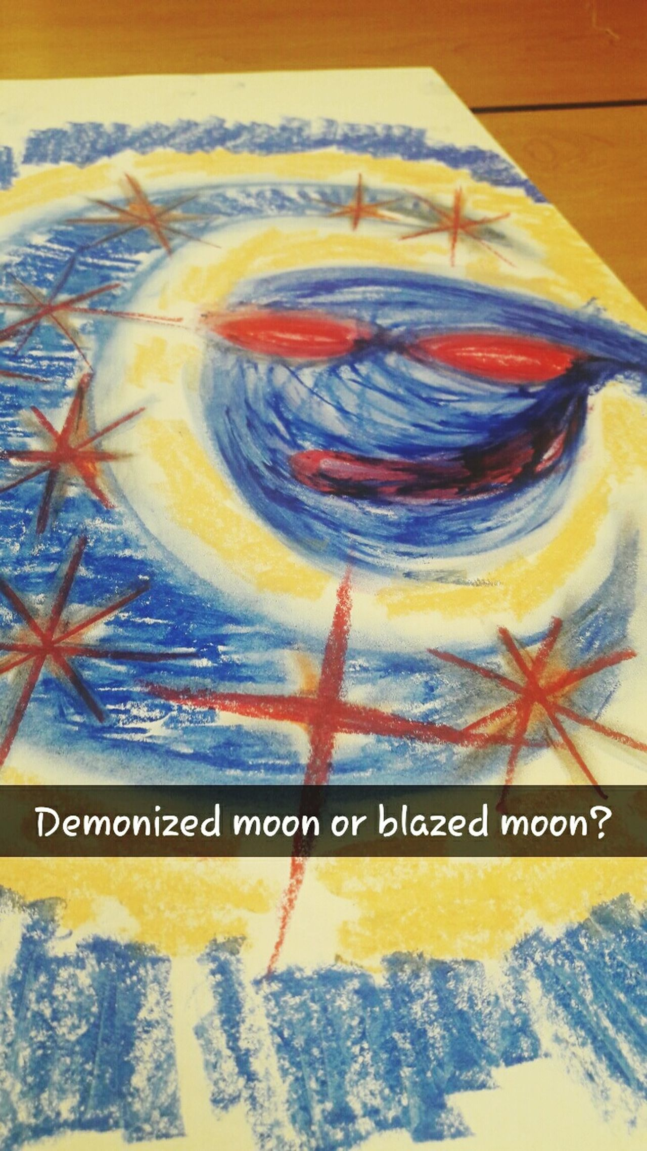 Demonized Moon or... Blazed Moon Abstractoilpastel Abstract Oilpastel Art Mymind