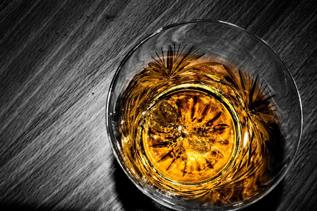 Water Of Life Drink Coloursplash Black & White Whiskey Whisky Single Malt