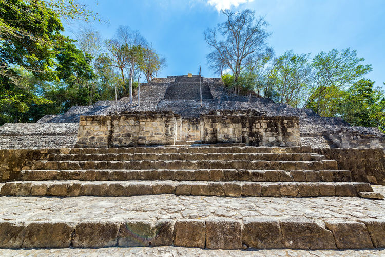 Structure One pyramid in the Mayan ruins of Calakmul, Mexico Architecture Calakmul Campeche Central America Mayan Mayan Ruins Mexico Pyramid Ruins Travel Yúcatan Biosphere Calakmul Biosphere Reserve Historic Jungle Landscape Maya Rain Forest Reserve Temple Tourism Travel Destinations Xpujil Yucatan Mexico Yucatan Peninsula