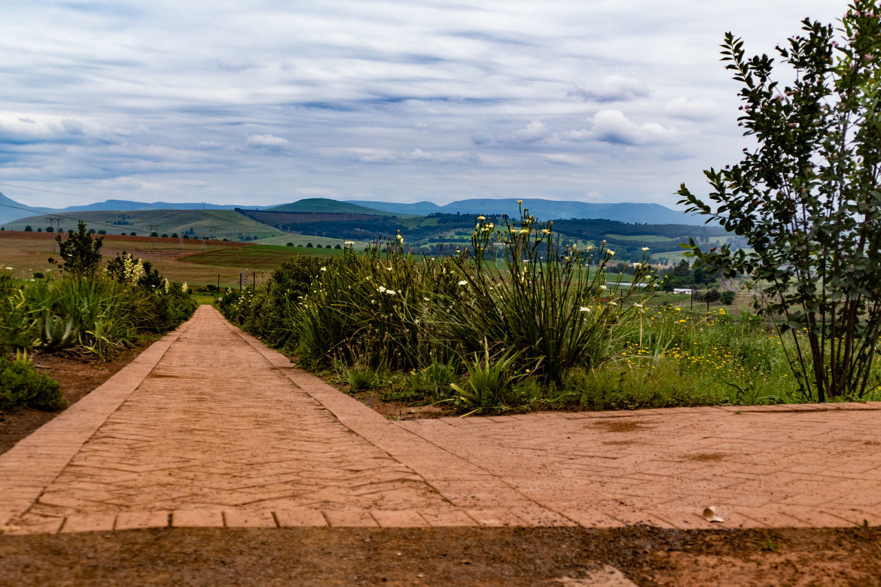 Beauty In Nature Brick Path Bricks Cloud - Sky Day Growth Landscape Long Walk To Freedom Madiba Mandela Mountain Mountains And Sky Nature Nelson Mandela No People Outdoors Plants Scenics Sky Tranquil Scene Tranquility Tree