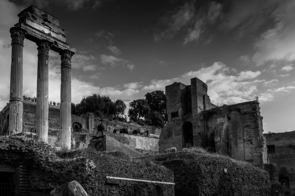 Temples as far as the eye could see Ancient Ancient Civilization Archeology Architecture Building Exterior Built Structure Canon Canon 5d Canon 5d Mark Iv Cloud - Sky Famous Place Forum Forum Romanum History Old Old Ruin Ruined Sky Stone Material The Past Travel Destinations Weathered