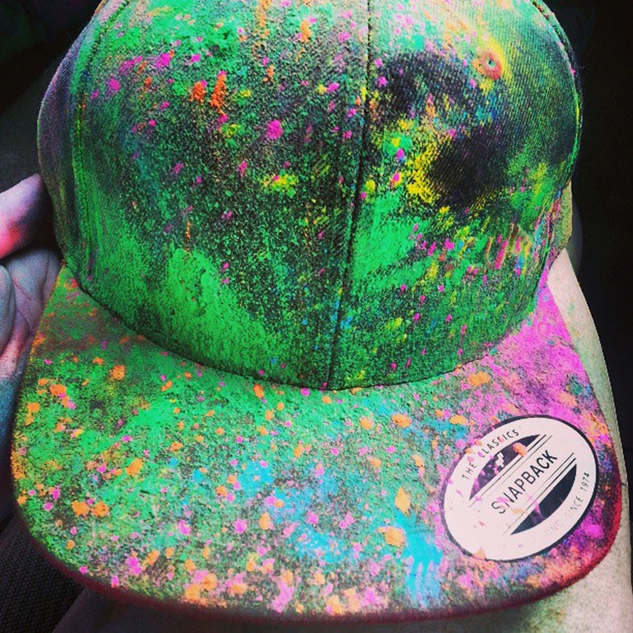 Well, Kamerons hat started out as black and red.. not anymore though RunOrDye Runordyehouston