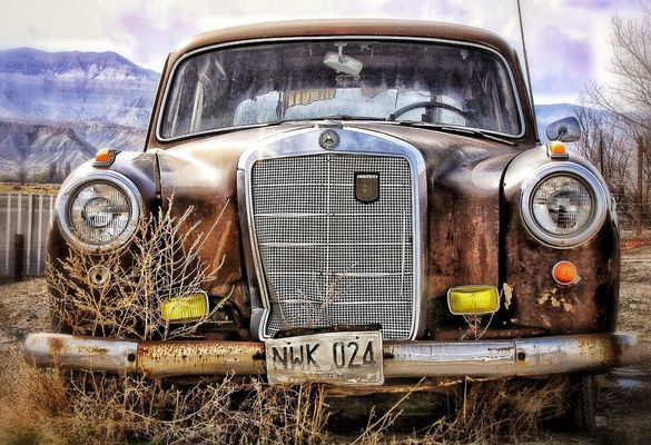 rusty autos by Jer