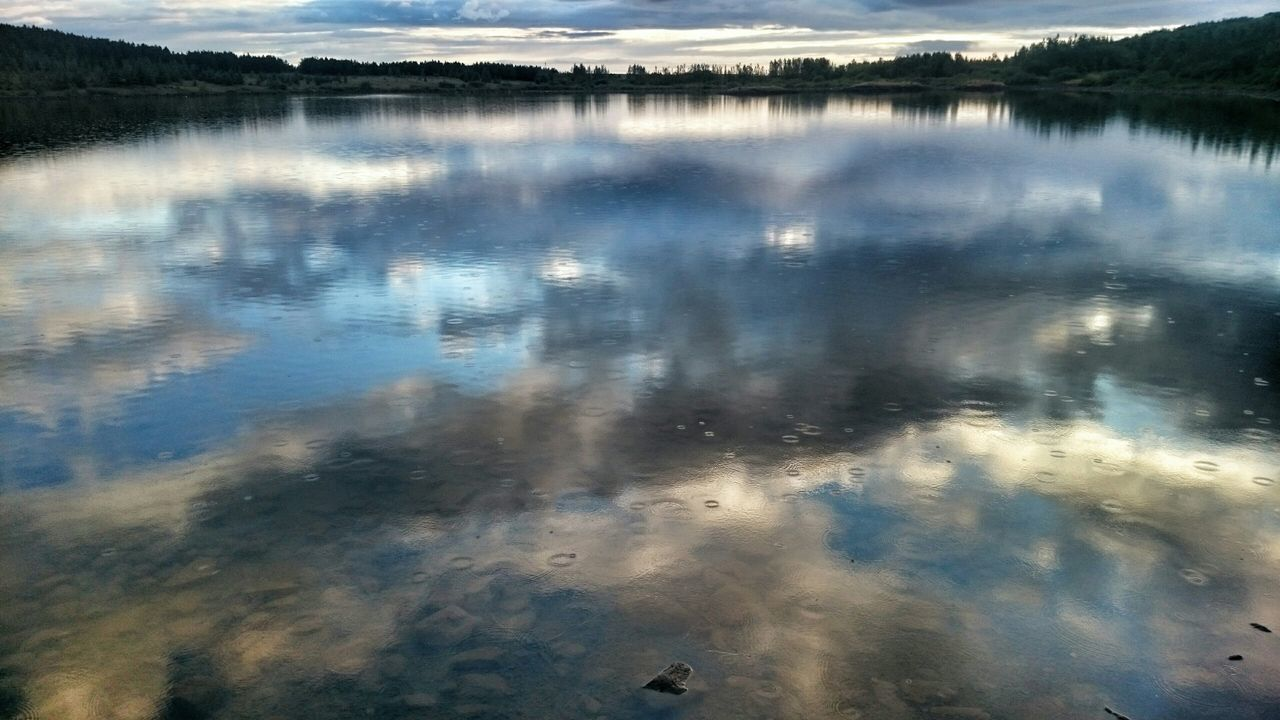 Hvaleyrarvatn in Hafnarfirði Rainy Days Hanging Out Taking Photos Check This Out Enjoying Life Summer Afternoon Sky And Clouds Reflection_collection Water_collection My Best Photo 2015