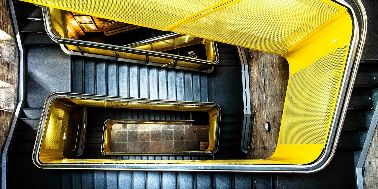 This is indoor! EyeEm Best Shots Yellow Stairs Urban Geometry Urban Perspective From My Point Of View Deceptively Simple Market Bestsellers October 2016 Beautifully Organized