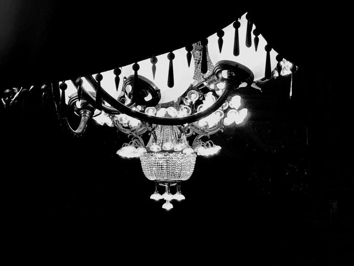Black And White Friday Decoration Hanging Low Angle View Lighting Equipment No People Indoors  Illuminated Night Close-up