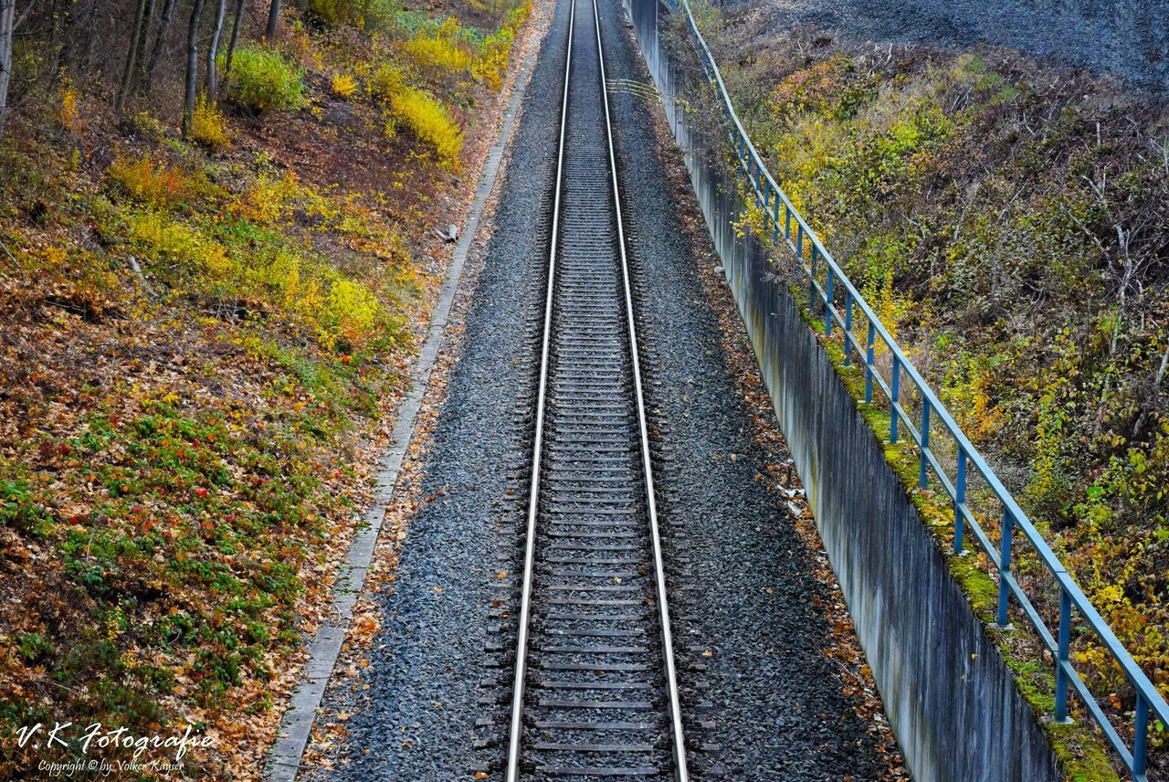 railroad track, rail transportation, transportation, the way forward, day, nature, outdoors, no people, autumn, railroad tie, scenics, beauty in nature