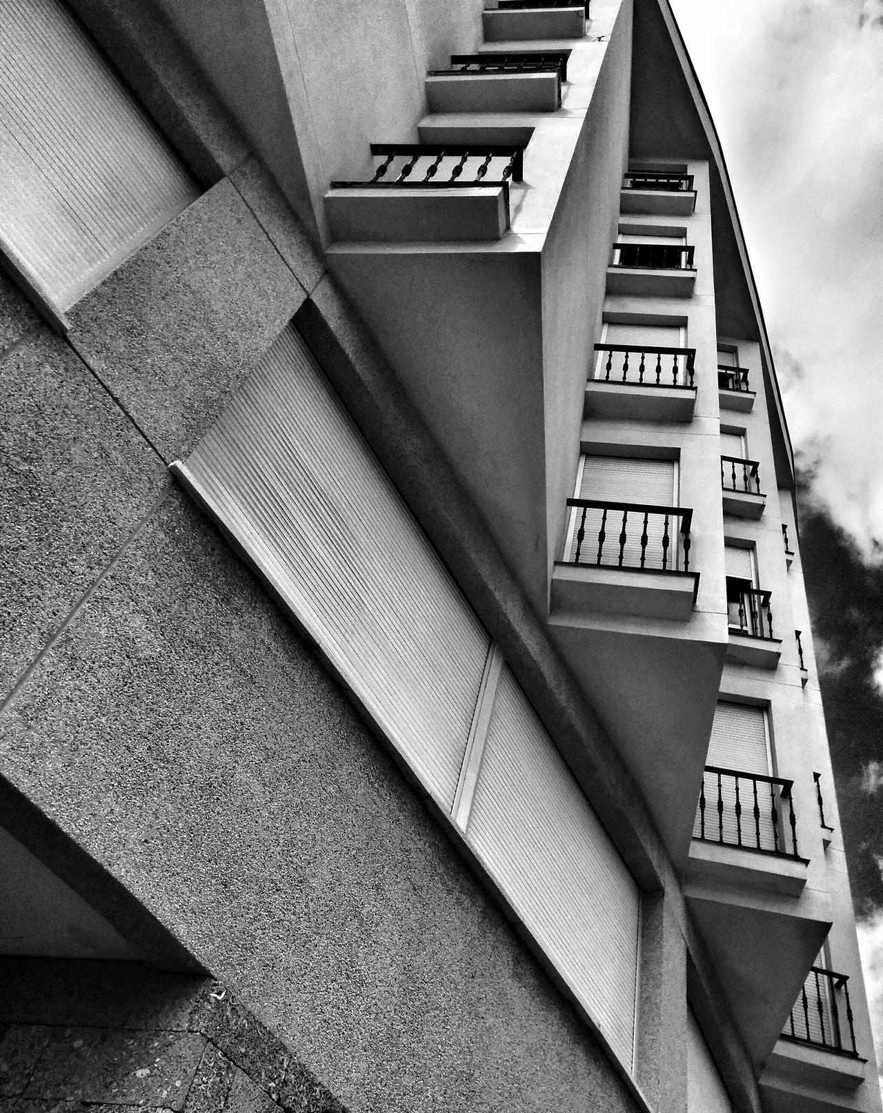 Blackandwhite Architecture_bw Urban Geometry Triangles Balcony Pattern