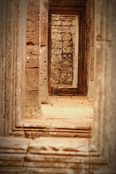 Looking Down Brickstones Brick Building Built Structure Stone Buildings Stone Architecture Close-up Sunlight Shadow Architecture BayonTemple Cambodia Abstract Stone Doorway Brick Doorway Textures And Surfaces Texture Pattern, Texture, Shape And Form Travel Travel Photography Khemer Culture Ancient Architecture