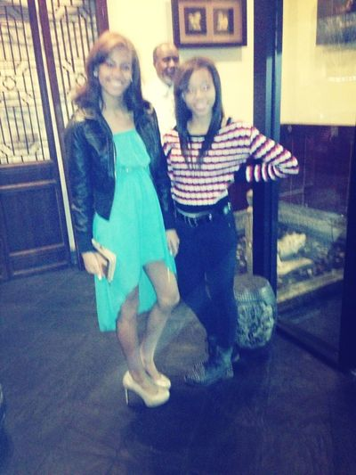 Kinda Blurry But Me And Naomei At Her Dinner