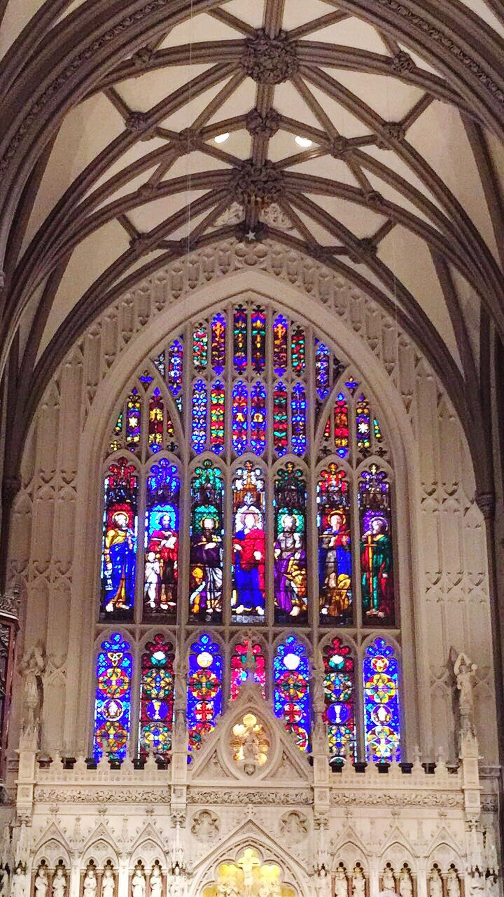 Place Of Worship Arch Architecture Stained Glass Religion Spirituality No People Indoors  Travel Destinations Day Built Structure Rose Window St Trinity Church Church Wall Street In New York City Wall Street  Newyork New York City New York New York, New York NYC NYC Photography Travel Travel Photography